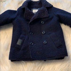 Zara KnitwearKids Coat New! Size 4. Navy.